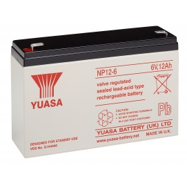 Akumulator żelowy AGM YUASA (NP12-6) 6V 12Ah