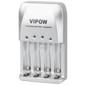 Ładowarka do akumulatorków VIPOW LIFELONG PSC001 4xAA 4xAAA