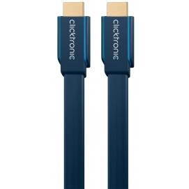 Kabel płaski HDMI / HDMI 1m Clicktronic