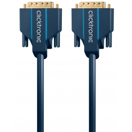 Kabel DVI-D / DVI-D 10m Clicktronic