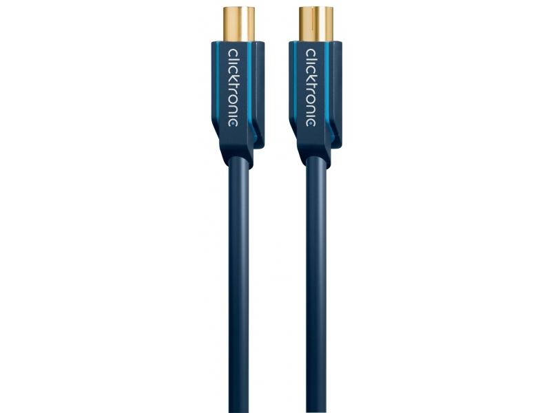 Kabel antenowy IEC wtyk / IEC gniazdo 5m Clicktronic