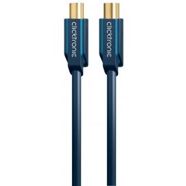 Kabel antenowy IEC wtyk / IEC gniazdo 1m Clicktronic