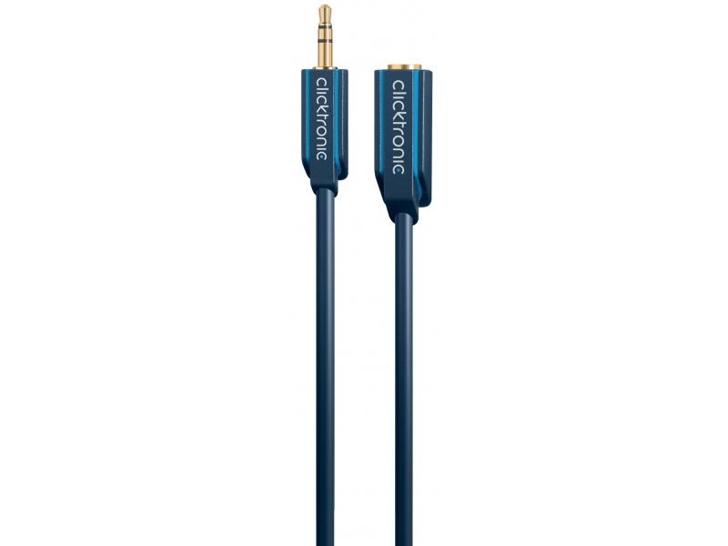 Kabel (przedłużacz) 3,5mm wtyk / 3,5mm gniazdo 3m Clicktronic
