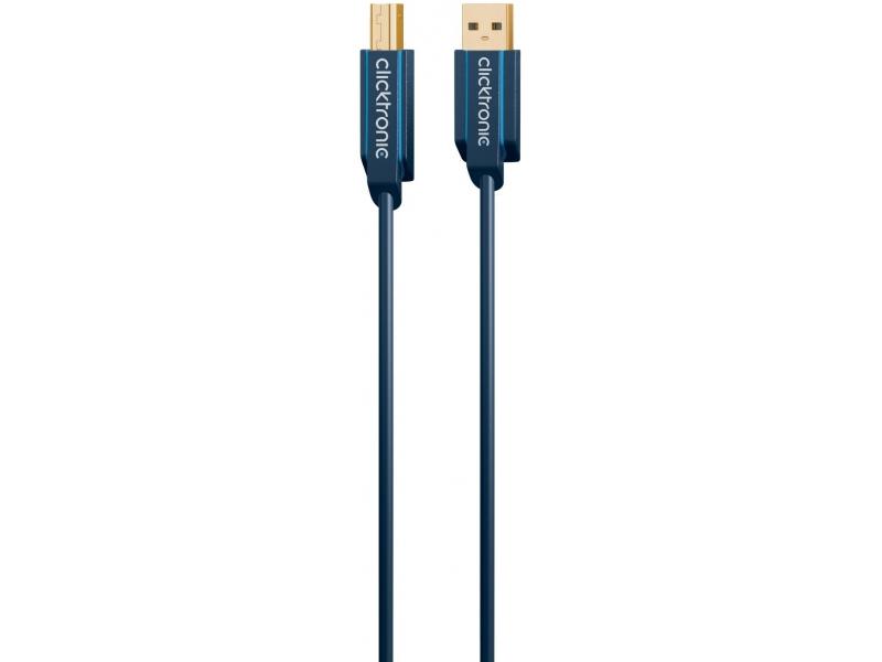 Kabel (do drukarki) USB 2.0 A / B 3m Clicktronic