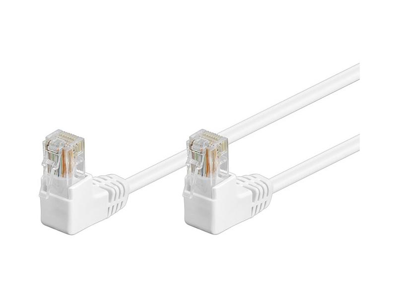 Kabel Patchcord Cat 5e U/UTP (2x90°) RJ45/RJ45 0.50m biały