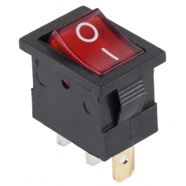 Złącze przełącznik 230V podświetlany MK1011 czerwony