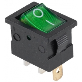 Złącze przełącznik 230V podświetlany MK1011 zielony 15A/12V