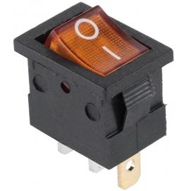 Przełącznik podświetlany MK1011 12V żółty