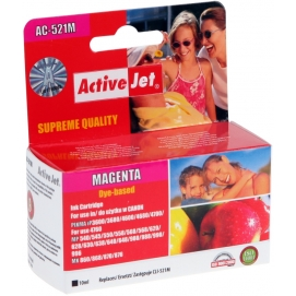 Tusz ActiveJet do Canon CLI-521 magenta bez chip