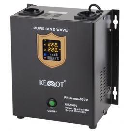 Awaryjne źródło zasilania KEMOT PROsinus-500W przetwornica z czystym przebiegiem sinusoidalnym i f