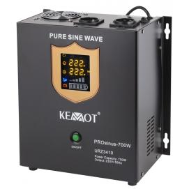 Awaryjne źródło zasilania KEMOT PROsinus-700W przetwornica z czystym przebiegiem sinusoidalnym i f