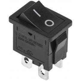 Przełącznik kołyskowy czarny 8A 0-1 C5N 4pin