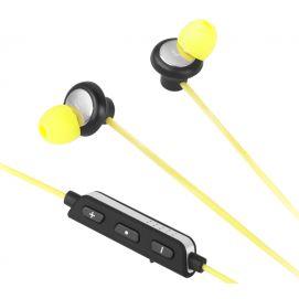 Bezprzewodowe słuchawki dokanałowe Kruger&Matz KMP89BT - kolor żółty