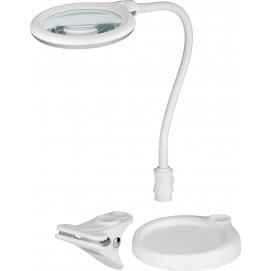 Lampa lupa LED z podstawą/zaciskiem, 6 W