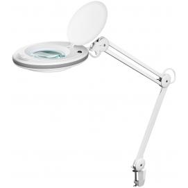 Lampa powiększająca LED 7,5W biała - soczewka szklana 125 mm, powiększenie 1,75x, 520 lumenów