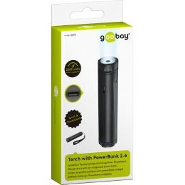 PowerBank 2600mAh Goobay kieszonkowy - latarka