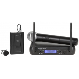 Mikrofon VHF 2 kanały WR-358LD (1 x mikrofon do ręki + 1x klip)