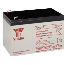 RE lead acid battery 12 V, 12 Ah (RE12-12) - Faston (6.35mm) lead acid battery