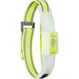 Outdoor Sports Reflective LED Band (16620), yellow - two light modes: permanent mode and blink mode