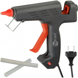 Hot glue gun for 11/12 mm sticks, 200 W, black - clean gluing for hobbyists and home use
