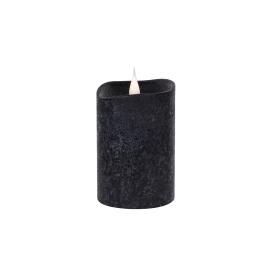 Świeca woskowa LED mała rustic black