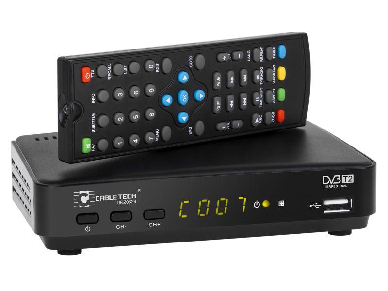 Tuner cyfrowy DVB-T2 H.265 HEVC LAN.