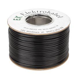 Kabel głośnikowy SMYp 2 x 0,35mm czarny 200m