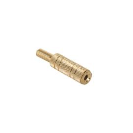 Gniazdo Jack 3.5mm st. kabel gold