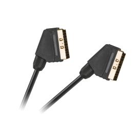 Kabel EURO - EURO 21 pin czarny HQ 1,5m
