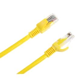 Patchcord kabel UTP kat. 5e wtyk - wtyk 1m żółty INTEX