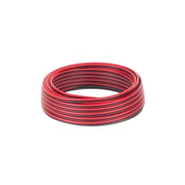 Kabel głośnikowy CCA 0.75mm czarno-czerwony 10M