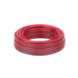 Kabel głośnikowy CCA 0.75mm czarno-czerwony 25M