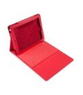 Pokrowiec uniwersalny na tablet 9.7 cali z klawiaturą Bluetooth czerwona