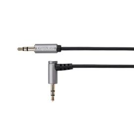 Kabel wtyk kątowy - wtyk prosty jack 3.5 stereo 1.0m Kruger&Matz