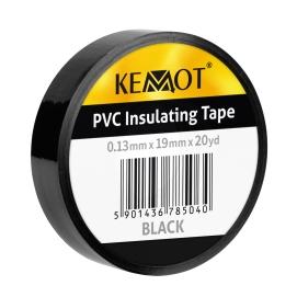 Taśma izolacyjna KEMOT 0,13x19x20Y klejąca czarna