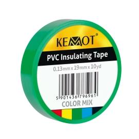 Taśma izolacyjna KEMOT 0,13x19x10Y klejąca zielona