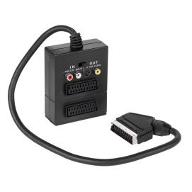 EDC Złącze Wtyk Euro na 2gn Euro + 3 RCA + SVHS z przełącznikiem