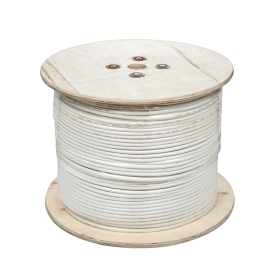 Kabel koncentryczny F690BV.A biały szpula 305m