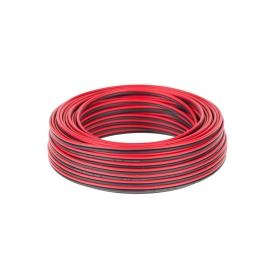 Kabel głośnikowy CCA 2.5mm 10M czer.-czarn.