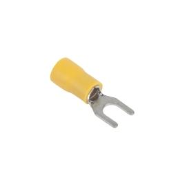 Konektor izolowany M5-0-6-P widełki żółty KM35