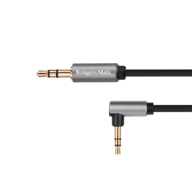 Kabel jack 3.5 wtyk kątowy stereo - 3.5 wtyk stereo 1.8m Kruger&Matz Basic