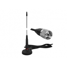 PS Antena CB SIRIO MICRO-60 52cm, magnetyczna, kabel 3m, wtyk PL.
