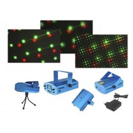 Projektor laserowy 3D z czujnikiem dźwięku.
