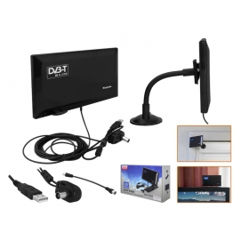 PS Antena DVB-T pokojowa SLIM aktywna z filtrem LTE.