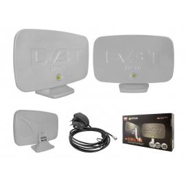 PS Antena DVB-T RYNIAK DELTA uniwersalna (pokojowa/zewnętrzna), srebrna.