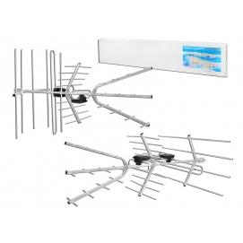 Antena DVB-T TRIA-MAX uniwersalna VHF/UHF, polaryzacja pozioma/pionowa ze zwrotnicą