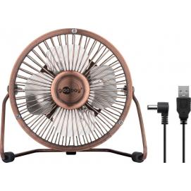 4 Inch Desktop USB fan, bronze, 1.2 m - provides for a cool breeze on your desk