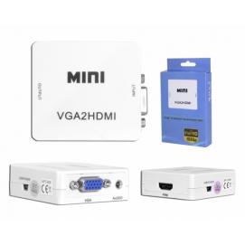 Przejście adapter sygnału VGA+AUDIO/HDMI.