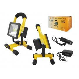 Naświetlacz przenośny LED 30W z akumulatorem 2*LED.