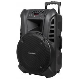 Aktywna kolumna głośnikowa (z 2 mikrofonami bezprzewodowymi UHF, SD, Bluetooth, FM, USB) 60W KM1715